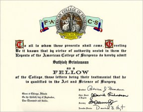 Fellow of the American College