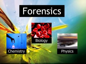 The Forensic Science Timeline