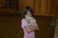 Madison with her new puppy
