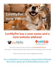 LuvMyPet is now Vetco!