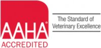 AAHA Logo, [AAHA ACCREDITED  The Standard of Veterinary Excellence]