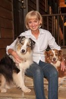 Dean Sheila W. Allen with her dogs.